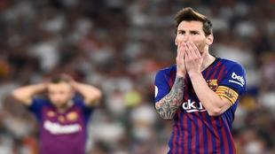 Leo Messi, en un partido con el Barcelona.