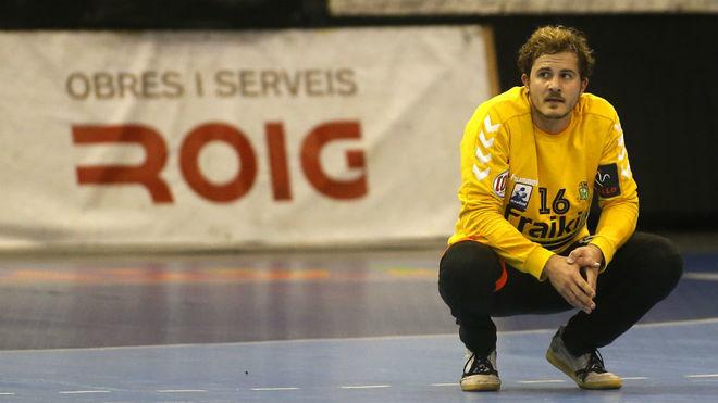 El guardameta Pol Sastre, durante su anterior etapa en el Granollers /