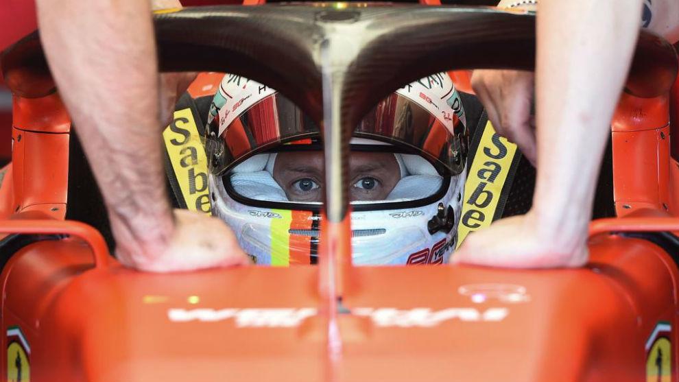 Vettel, poco antes de la calificación del GP de Francia.