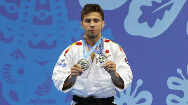 Fran Garrigós, en el podio.