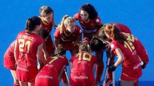 Las jugadoras españolas, en el partido contra Bielorrusia