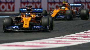Carlos y Lando, durante el Gran Premio de Francia.