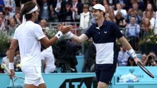 Feli y Murray se saludan