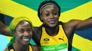 Elaine Thompson y Fraser-Pryce, en los Juegos de Río