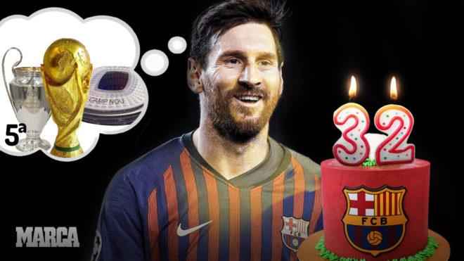 Cumpleaños de Messi: 32.