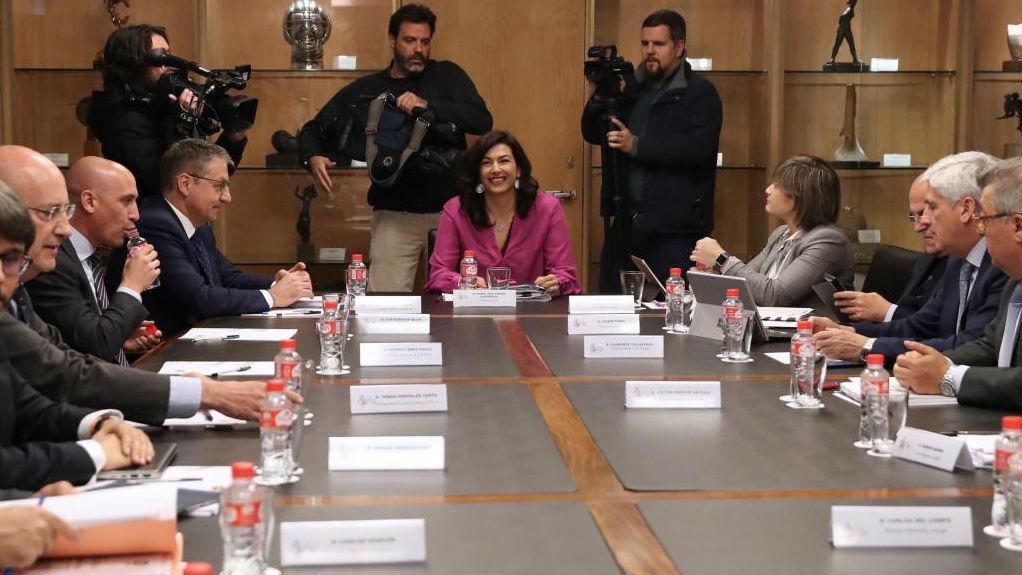 LaLiga y la RFEF, reunidas en el CSD para alcanzar un acuerdo.
