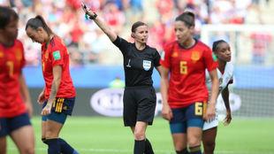 Lance del partido entre España y Estados Unidos en el Mundial.