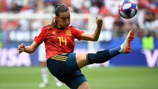 Virginia Torrecilla durante un lance del partido.