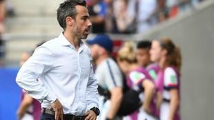 Jorge Vilda, seleccionador español femenino de fútbol.