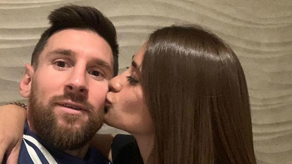 Leo Messi y Antonela Roccuzzo.
