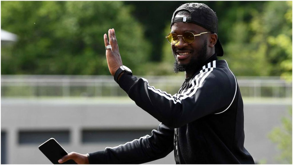 Tanguy Ndombele arriving at Clairefontaine.