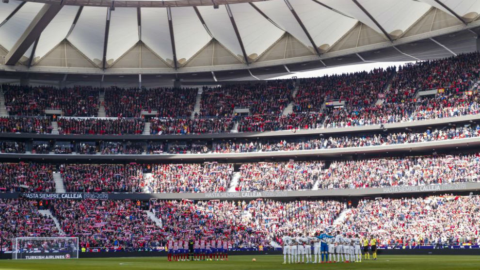 The Wanda Metropolitano before Atletico Madrid's clash with Real...