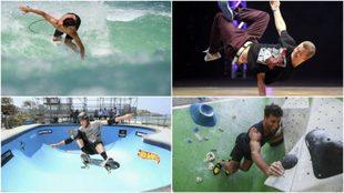 Surf, breakdance, skate y escalada