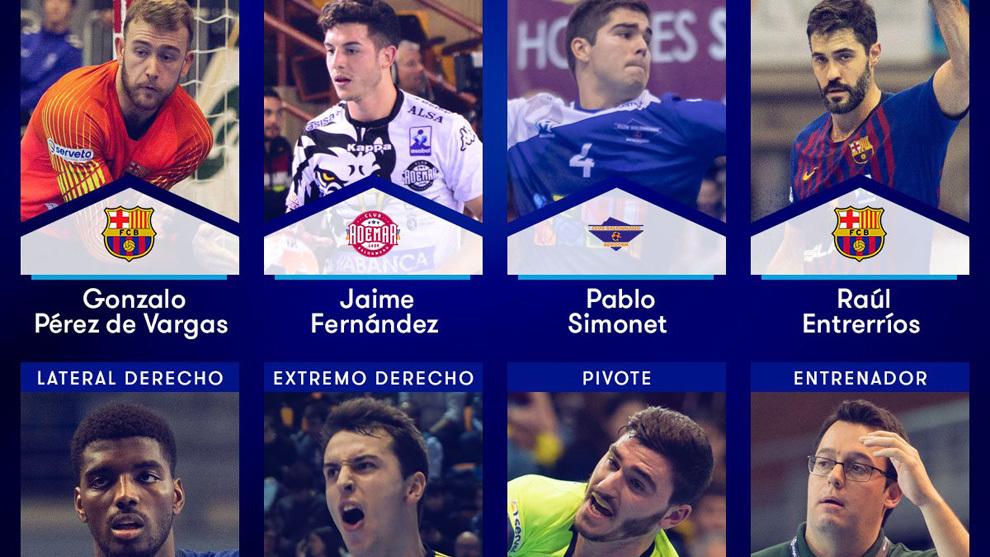 Los elegidos en el 'Equipo Ideal' de la Liga Asobal 2018/19 /
