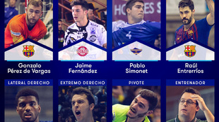 Los elegidos en el 'Equipo Ideal' de la Liga Asobal 2018/19...
