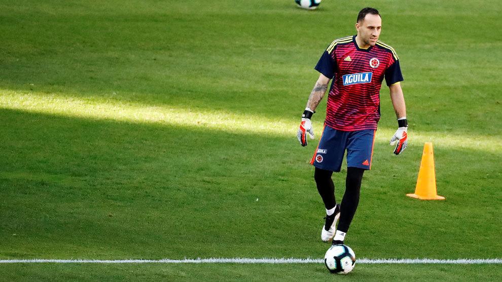 David Ospina, en el entrenamiento de este martes