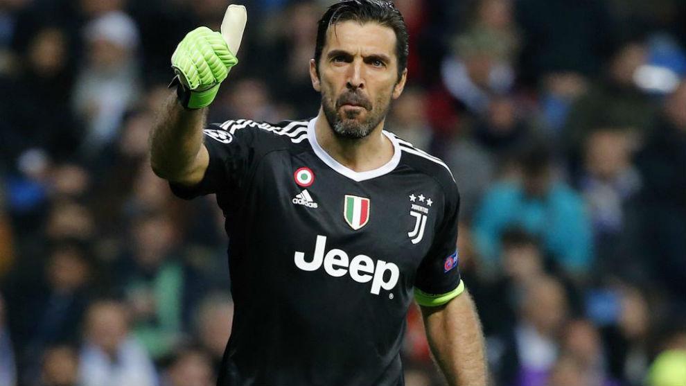 Buffon en una imagen de su última temporada con la Juventus.