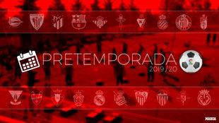 Partidos de pretemporada de La Liga Santander - Primera División