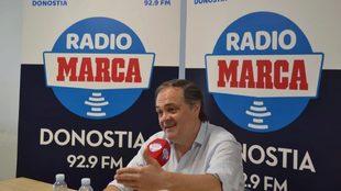 Aperribay, en un momento de la charla en Radio MARCA Donostia.