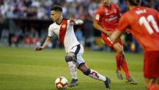 Álex Moreno, en el partido contra el Real Madrid la pasada temporada.