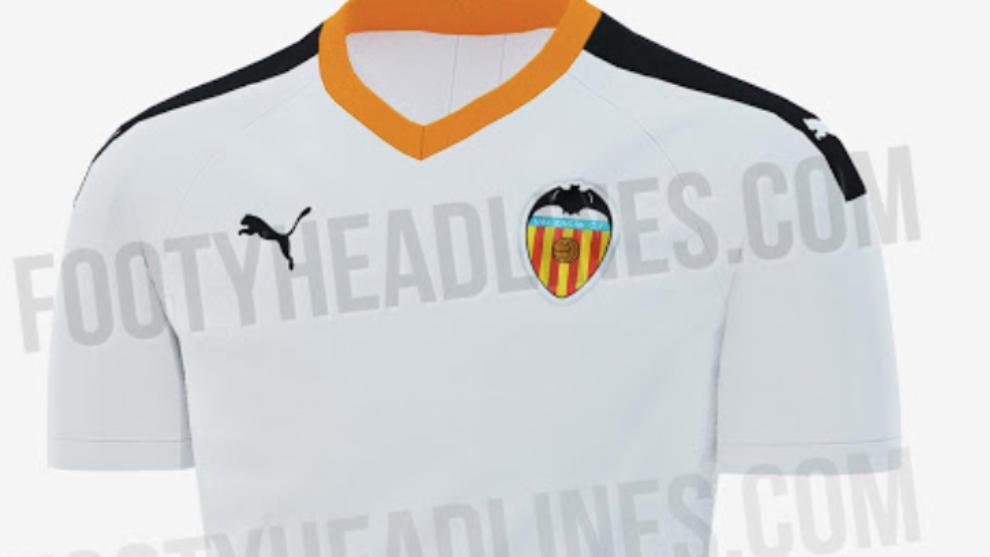 Diseño de la camiseta del Valencia 19-20 según ha filtrado...