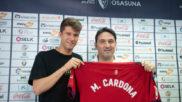 Marc Cardona, en su presentación como nuevo jugador de Osasuna