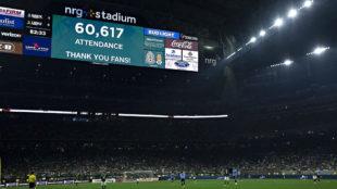 Vista del NRG Stadium en el juego entre México y Uruguay