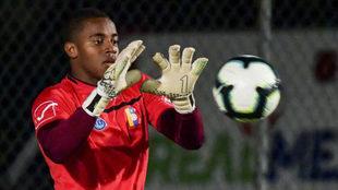 Faríñez, durante un entrenamiento con Venezuela.