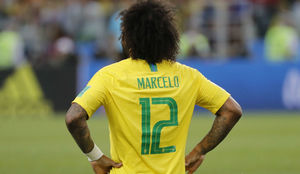 Marcelo during a match for the Brazilian national team.