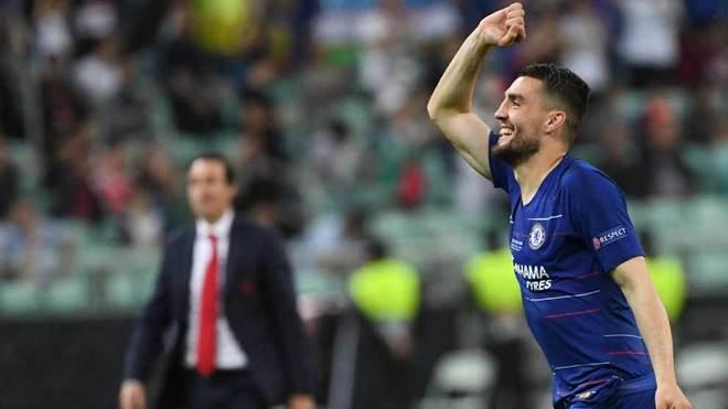 Kovacic celebra el triunfo en la final de la Europa League.