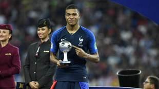 Mbappé fue balón de plata en el Mundial de Rusia 2018