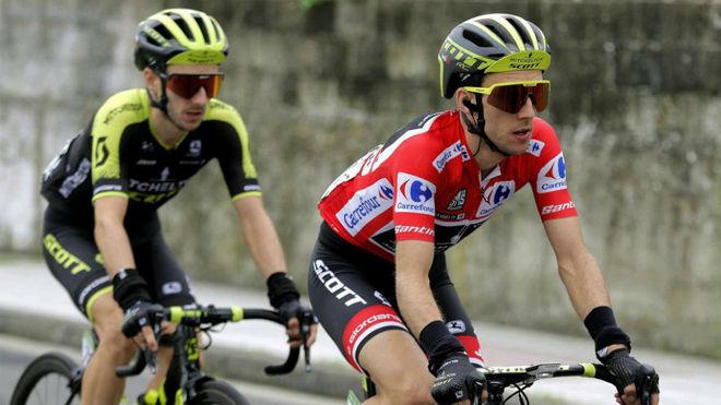 Adam y Simon Yates, en la Vuelta 2018.