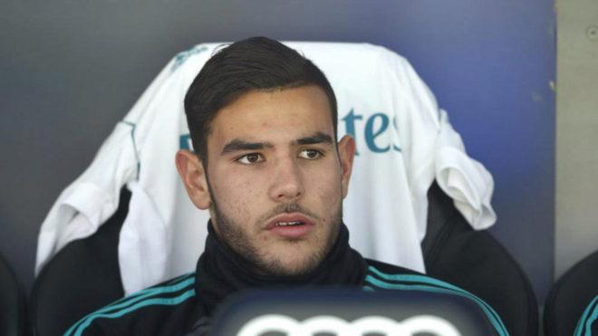 Theo Hernández, con el Real Madrid.