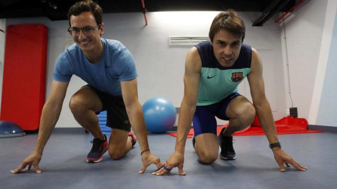 Enric Martín y Xavi Porras, en las instalaciones deportivas de...