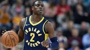 Darren Collison jugando con los Indiana Pacers