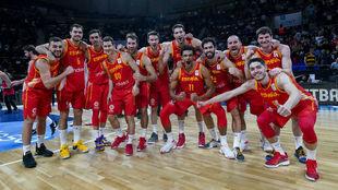 La Selección Española celebra su clasificación para el Mundial