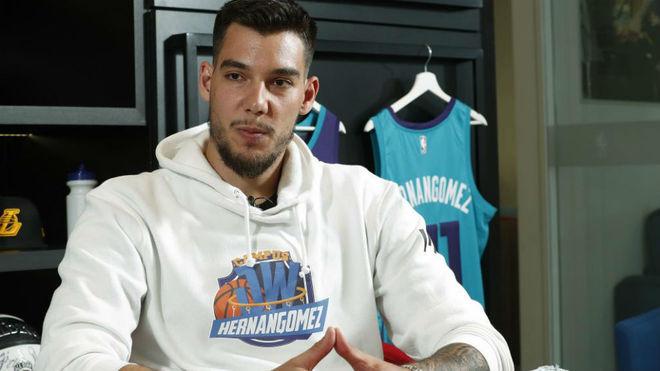 Willy Hernangómez durante una entrevista para MARCA