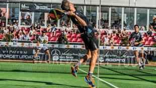 Juan Lebrón, en la semifinal ante Mieres y Galán.