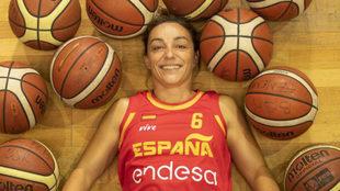Sonia Ruiz posa durante un entrenamiento de preparación para el...
