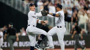 Celebración de los Yankees.