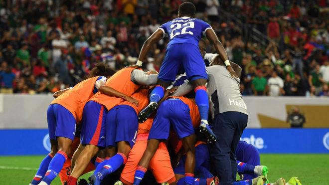 Eufórico festejo de Haití.