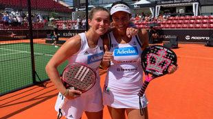 Marta Ortega y Marta Marrero celebran el título en Suecia.