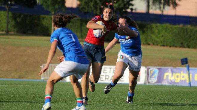 Una jugadora española durante el partido de la fase de grupos frente...
