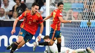 Fabián celebra el tanto que marcó en la final ante Alemania.