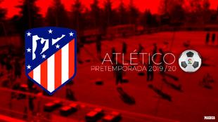 Calendario de pretemporada del Atlético de Madrid.