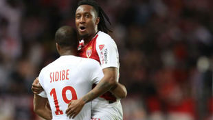 Gelson celebra un gol con el Mónaco