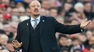 Rafa Benitez, con el Newcastle.