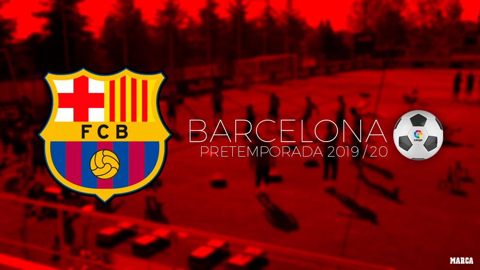 Calendario de pretemporada del Barcelona.