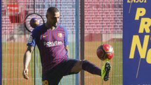 Boateng, en su presentación como jugador del Barcelona.