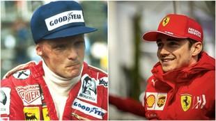 Lauda y Leclerc.